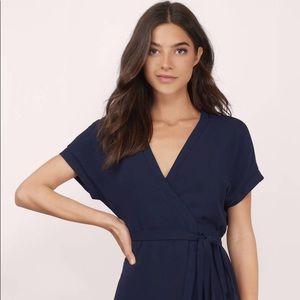 Tobi navy wrap dress